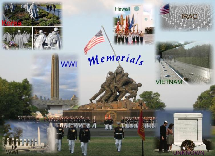 Memorial Monuments Collage